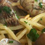 Spaghetti con gamberi | Oresteria Ristorante di pesce a Ponza
